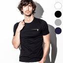 AKM Contemporary(エイケイエムコンテンポラリー) ZIPポケット付Tシャツ(ホワイト/グレー/ネイビー/ブラック)メンズ/メンズファッション【あ...