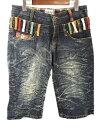 Nylaus CLOTHING ナイラス ダブルウエスト デニム ハーフパンツ 79cm 激安 & 5400円以上ご