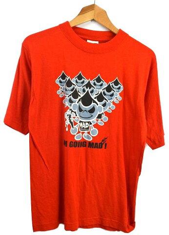 ROUND1 ラウンドワン プリント半袖Tシャツ F 朱色デビル柄♪/古着【中古】【レディース】 メール便可【送料込み1000ポッキリ(沖縄、ゆうパックの発送は対象外)】
