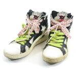 プーマ×YO!MTV RAPS 第4弾 FAIRST ROUND B4 ハイカットスニーカー 28cm PUMA ファーストラウンド シューズ 靴 白、黒 メンズ古着