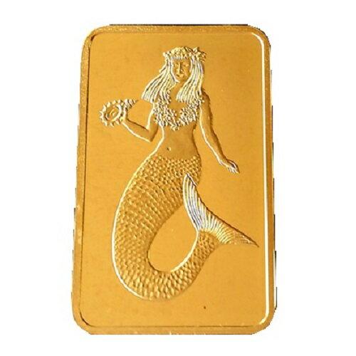 純金 インゴット 延べ棒 (純金インゴット) ゴールドバー マーメイド金貨 1/10オンス パラオ共和国 1995年製