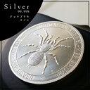 【純銀 コイン】ジョウゴグモ スパイダー 銀貨 1オンス 2015年製 オーストラリアパース造幣局発行シルバー純度99.9%の銀貨。エリザベスとクモの絵柄。