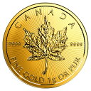 【新品・未開封】『メイプル金貨 1g 2017年製』カナダ王室造幣局発行 1gの純金 24金メイプルリーフ 金貨 地金型 ゴールド コイン 品位:K24 (99.99%) 金貨 メープル 《安心の本物保証》 【保証書付き・巾着袋入り】