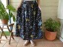【30%OFF SALE】SARAH WEAR(サラ ウェア) MOON DUST ムーンダスト リバティギャザーロングスカート(C-21422)