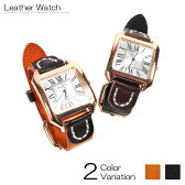 メンズ シンプル 腕時計 レザー アンティーク調 カジュアル ウォッチ ブラック ブラウン 02P18Jun16