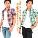 チェックシャツ メンズ 半袖