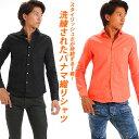 シャツ メンズ 白シャツ Men's Yシャツ カジュアル 男性 学生 きれいめ shirt 長袖 パナマ織 パナマシャツ パナマ カッターシャツ 白シャツ 黒シャツ