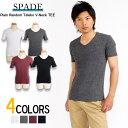 Tシャツ 無地 半袖 メンズ ティーシャツ ストレッチ Vネック きれいめ モード T-shirt インナー カジュアル ランダムテレコ 2P01Oct16