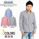 ギンガムチェックシャツ メンズ シャツ 長袖 ギンガム チェック カジュアル ビジネス きれいめ チェックシャツ 日本製