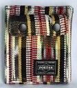 ■未使用■ ポーター×ビームス×アルテサニア マルチ柄キャンバス折り財布(縦) 黒系マルチカラー ウォレット PORTER×BEAMS×ARTESANIA A06275