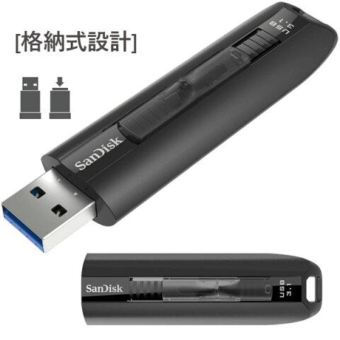 USBメモリ 64GB サンディスク Sandisk Extreme GO 高速USB3.1(Gen 1)対応 R:200MB/S W:150MB/S スライド式 パッケージ品 あす楽対応