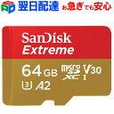 microSDXC 64GB SanDisk サンディスク【翌日配達】UHS-I U3 V30 4K A2対応 Class10 R:160MB/s W:60MB/s 海外向けパッケージ品