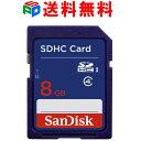 楽天SPD楽天市場店8GB SDHCカード SDカード SanDisk サンディスク CLASS4 パッケージ品 送料無料 お買い物マラソンセール