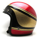 【在庫有 即納】【送料無料】PREMIER GOLD × RED × BLACK 62cm ビンテージヴィンテージスモールジェットヘルメットオープンフェイスbellベルbucoブコshmタチバナ立花