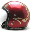 【在庫有 即納】【送料無料】60's DAIEI BIRD METALFLAKE RED 60cm ビンテージヴィンテージスモールジェットヘルメットオープンフェイスbellベルbucoブコshmタチバナ立花
