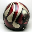 【在庫有 即納】【送料無料】BIKE GOLD × RED 58cm ビンテージヴィンテージスモールジェットヘルメットオープンフェイスbellベルbucoブコshmタチバナ立花