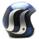 【在庫有 即納】【送料無料】SAFETECH 2SWOOSH BLUE × SILVER 59cm ビンテージヴィンテージスモールジェットヘルメットオープンフェイスbellベルbucoブコshmタチバナ立花