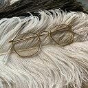 ショッピングチョッパー 70's ENGLAND Hilton Classic Quadra Frame(ヒルトンクラシック クアドラ メガネフレーム) 【海外直輸入新古品】眼鏡めがねゴールド金色14K金張フランスフレームアンティークフレンチサングラススクエア四角型イギリス製デッドストック
