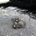 Arrow×Sheriff Star Ring by Cody Sanderson (コディ・サンダーソン作 アロー シェリフスター リング)ナバホ族navajoインディアンジュエリーネイティブアメリカンアンティークアクセサリーメンズindian jewelry指輪シルバー伝統工芸品