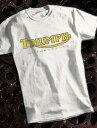 METRO RACING TRIUMPH T-shirt(メトロレーシングトライアンフTシャツ)WHITE 白ホワイト6tサンダーバードtr5トロフィーtr6t120ボンネビルt140t110タイガーカブt20t100tr7デイトナスピードトリプルスプリントスラクストンスクランブラー