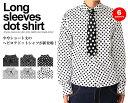 長袖ドットシャツ/A080 スピードオレンジ【SPEED ORANGE】ブラック黒 ホワイト