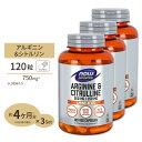 3個セット アルギニン&シトルリン 500mg 250mg 120粒 NOW Foods(ナウフーズ)アミノ酸/スポーツ