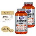 2個セット L-グルタミン 1000mg 240粒 NOW Foods(ナウフーズ)