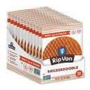 [NEW] ローシュガーワッフルクッキー シナモンシュガークッキー 12袋入り(各33g)(13.92oz)Rip Van Wafels(リップバンワッフルズ)