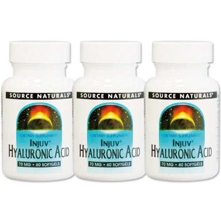 ヒアルロン酸3個セットインジュブヒアルロン酸70mg60粒/美容/ヒアルロン酸加工食品/Source