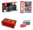 【新品】【即納】Nintendo Switch Joy-Con (L) / (R) グレー+マリオカート8 デラックス|オンラインコード版+ギフトラッピングキット【大】 (BOX仕様:マリオキャラクターver.) +Samsung microSDXCカード 128GB EVO Plus MB-MC128GA/ECO