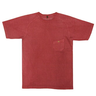 NIGEL CABOURN by Nigel carbon BASIC T-SHIRT (WINE RED) pigment dyed