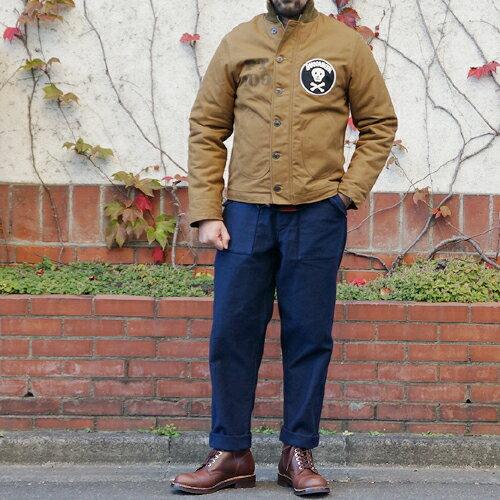 FREEWHEELERS フリーホイーラーズ 1940s USN BUCCANEER 1940s CIVILIAN MILITARY STYLE CLOTHING COTTON DUCK DRY FINISH RED BEIGE