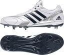 adidas(アディダス)野球&ソフトスパイクadiPURE 2 Low(埋め込み金具スパイク)Q16753クリスタルWHT S16