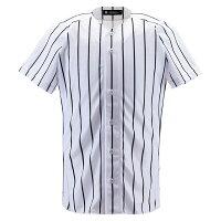 デサント(DESCENTE)野球&ソフト野球ユニホームユニフォームシャツ フルオープンシャツ(ワイドストライプ)DB6000SWBKの画像