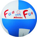 ミカサ(MIKASA)ハンドドッチボールふあふあドッジ2号縫い(白/青)FFD2WB