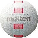 【ラッキーシール対象】モルテン(Molten)バレーボールミニソフトバレーボールデラックス 白ピンクS2Y1500WP