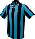 【ラッキーシール対象】 PUMA(プーマ)サッカーゲームシャツ・パンツストライプ ハンソデ ゲームシャツ90329502BLACK-SAXE