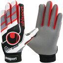 【ラッキーシール対象】uhlsport(ウールシュポルト)サッカー手袋FUTSAL フルフィンガー スターターソフト ホワイト×ブラック×レッド1000856ホワイト/ブラック/R
