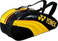 【ラッキーシール対象】Yonex(ヨネックス)テニスバッグTEAM SERIES ラケットバック6 リュック付き(テニスラケット6本用)BAG1932RY/BKの画像