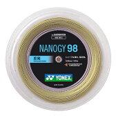 Yonex(ヨネックス)バドミントンガット・ラバーナノジー98(200m)NBG982コスミックゴールド