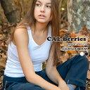 【カルベリーズ 直営店】CAL.Berries カルベリーズ レディース タンクトップ ノースリーブ カットソー カジュアル インナー Made in US..