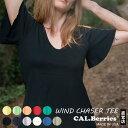 【カルベリーズ レディース】CAL.Berries カルベリーズ 「WIND CHASER TEE」 (3540j005) レディース ALL Made in USA 夏 Tシャツ 半袖 カットソー 新作 【メール便対応】 ルームウエア 部屋着