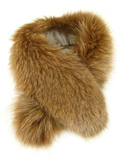 Clip-on FAST SPLASH [スプラッシュファースト] one piece Peel fox fur Tippet