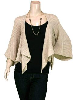SPLASH FAST [スプラッシュファースト] flare sleeves / draping knit Bolero