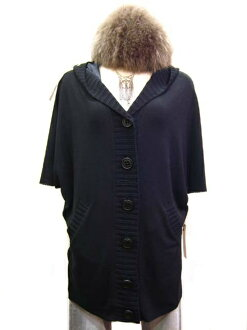 SPLASH FAST [スプラッシュファースト] in hooded poncho style knit Cardigan