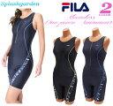 フィットネス水着 レディース オールインワンフィラ/FILA/袖はノースリーブで動きやすい!