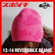 13-14 MTN.ROCK STAR マウンテンロックスター リバーシブルビーニー ニット帽 2013-2014 MountainRockStar REVERSIBLE BEANIE メンズ レディース ニットキャップ スノーボード帽子