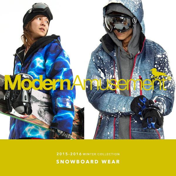 スノーボードウェア メンズ 上下セットModern Amusement モダンアミューズメント