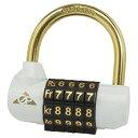 ギザ PL-864バンクロック 【ホワイト/ゴールド】 GIZA GP PL-864 Bank Lock 自転車 ダイヤルロック