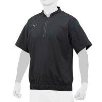 ミズノ(MIZUNO)ミズノプロ トレーニングジャケット ハーフZIP 半袖シャツ 12JE8J82-09の画像